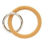 Yellow Seed Bead Key Ring