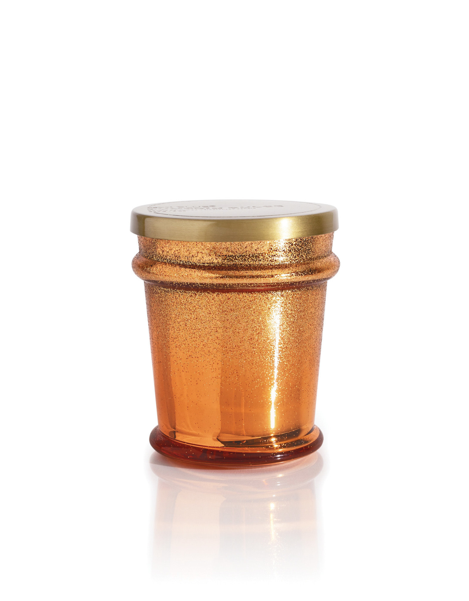 Capri-Blue Glitz Found Glass Jar