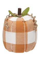 Orange Check Fabric Pumpkin
