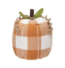 Orange Check Fabric Pumpkin