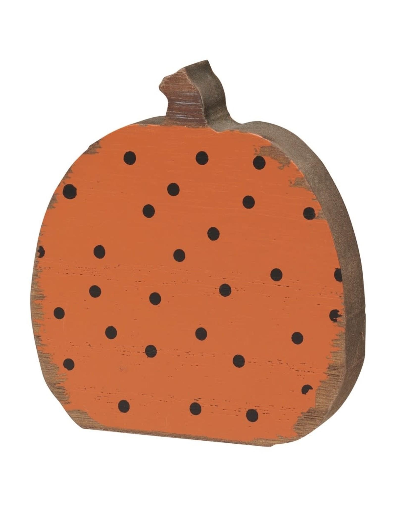 Black Dot Pumpkin Cutout
