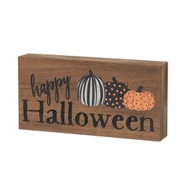 Halloween Block Sign