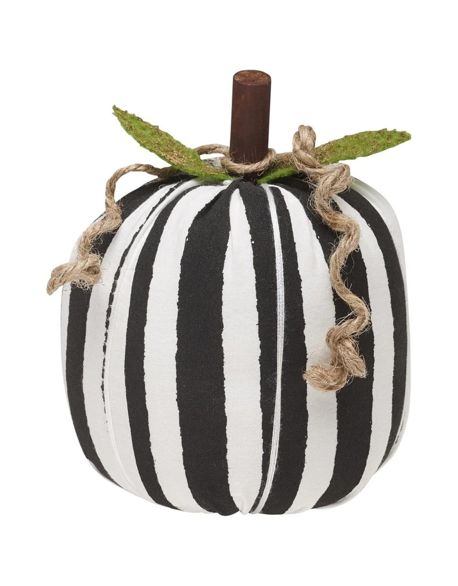 Black/White Stripe Fabric Pumpkin