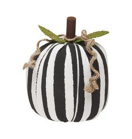 Black/White Stripe Fabric Pumpkin