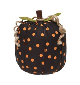 Orange Dot Fabric Pumpkin