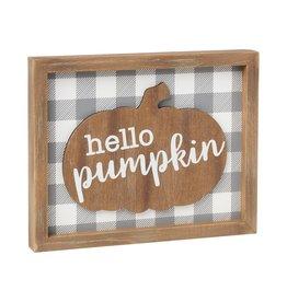 Hello Pumpkin 3D Framed Sign