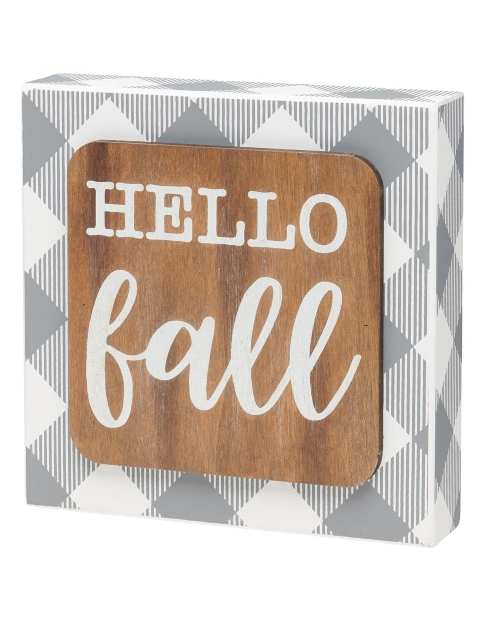 Hello Fall 3D Box Sign
