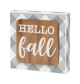 Hello Fall 3D Box Sign