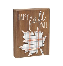 Happy Fall Y'all 3D Sign