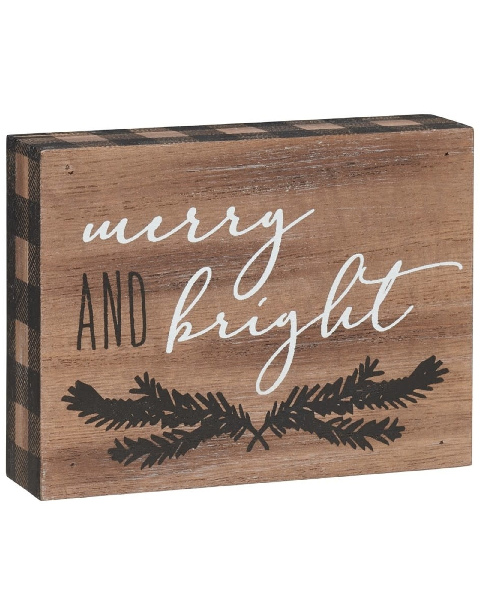 Merry and Bright Block Sign