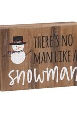 Snowman Block Sign