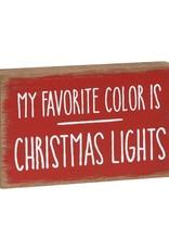 Christmas Lights Block Sign