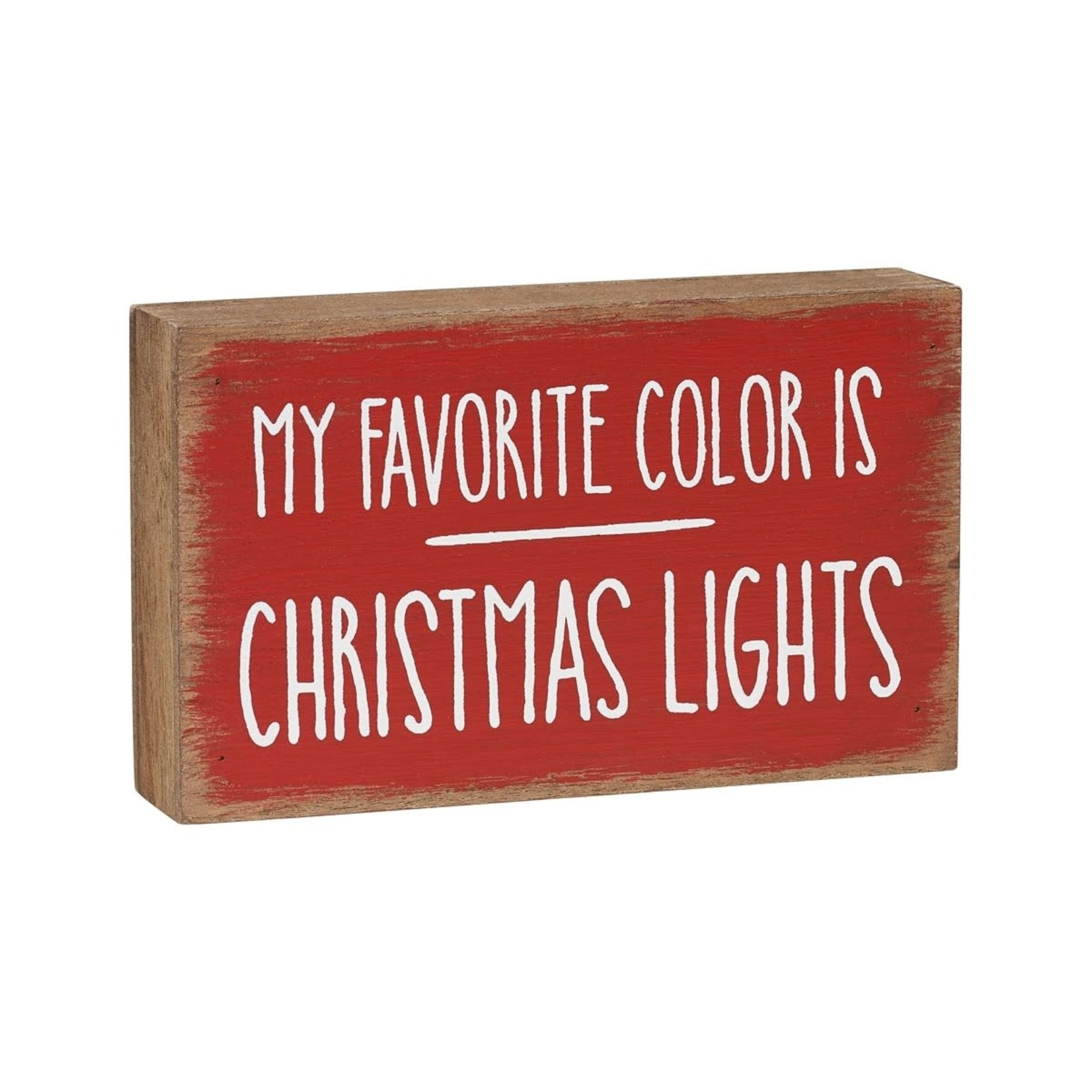 Collins Painting Christmas Lights Block Sign
