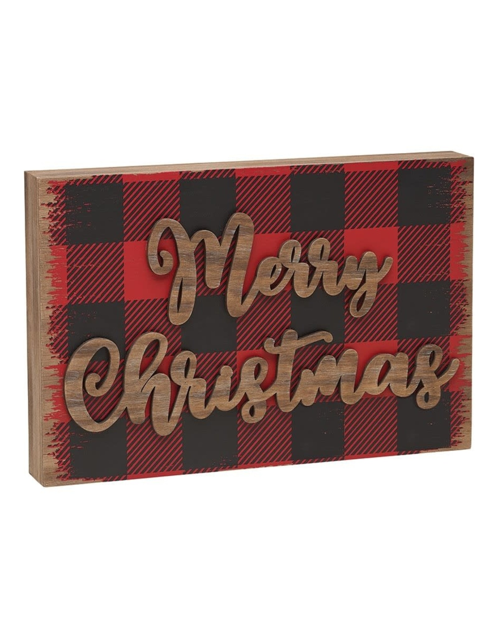 Merry Christmas 3D Block Sign