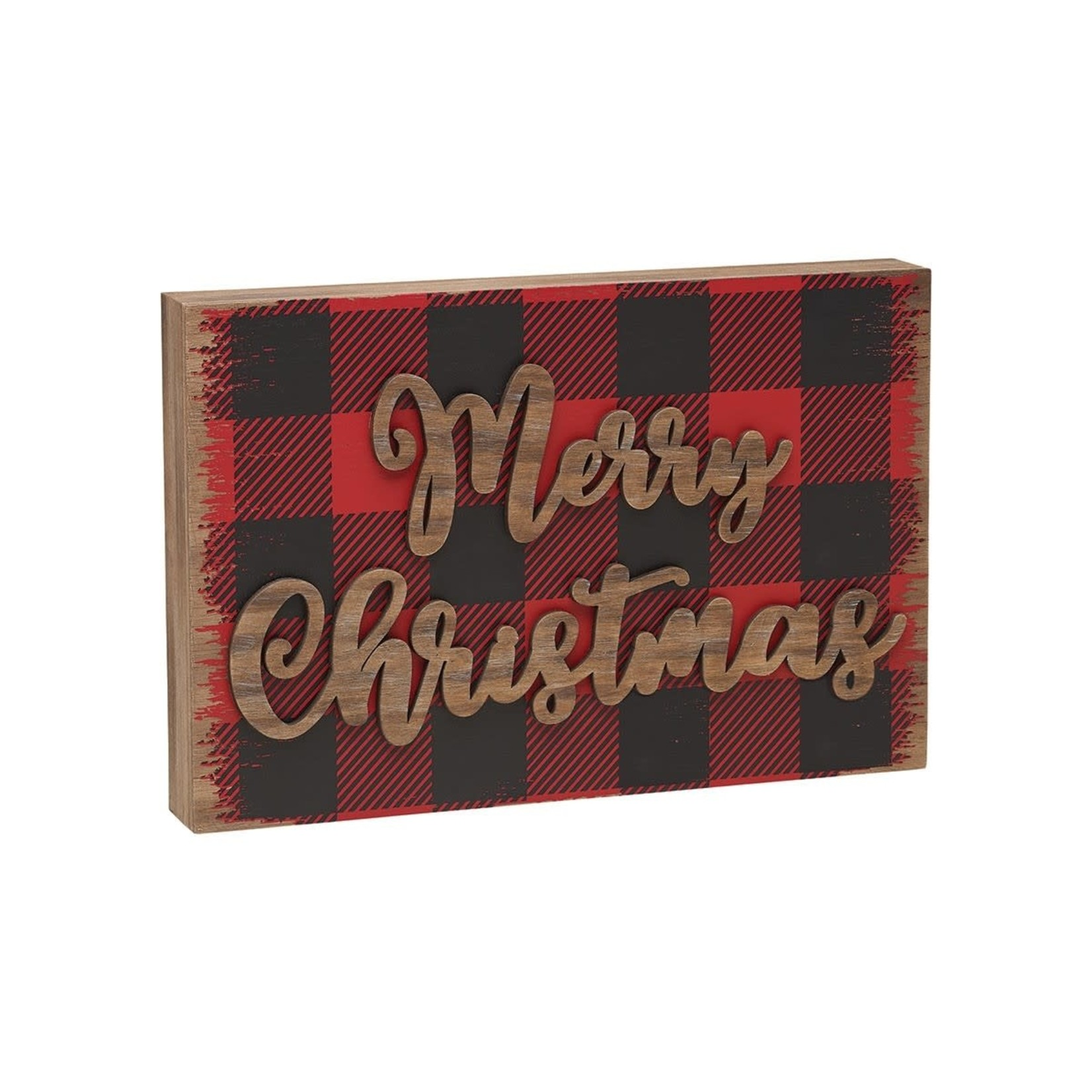 Collins Painting Merry Christmas 3D Block Sign