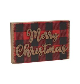 Merry Christmas 3D Block Sign