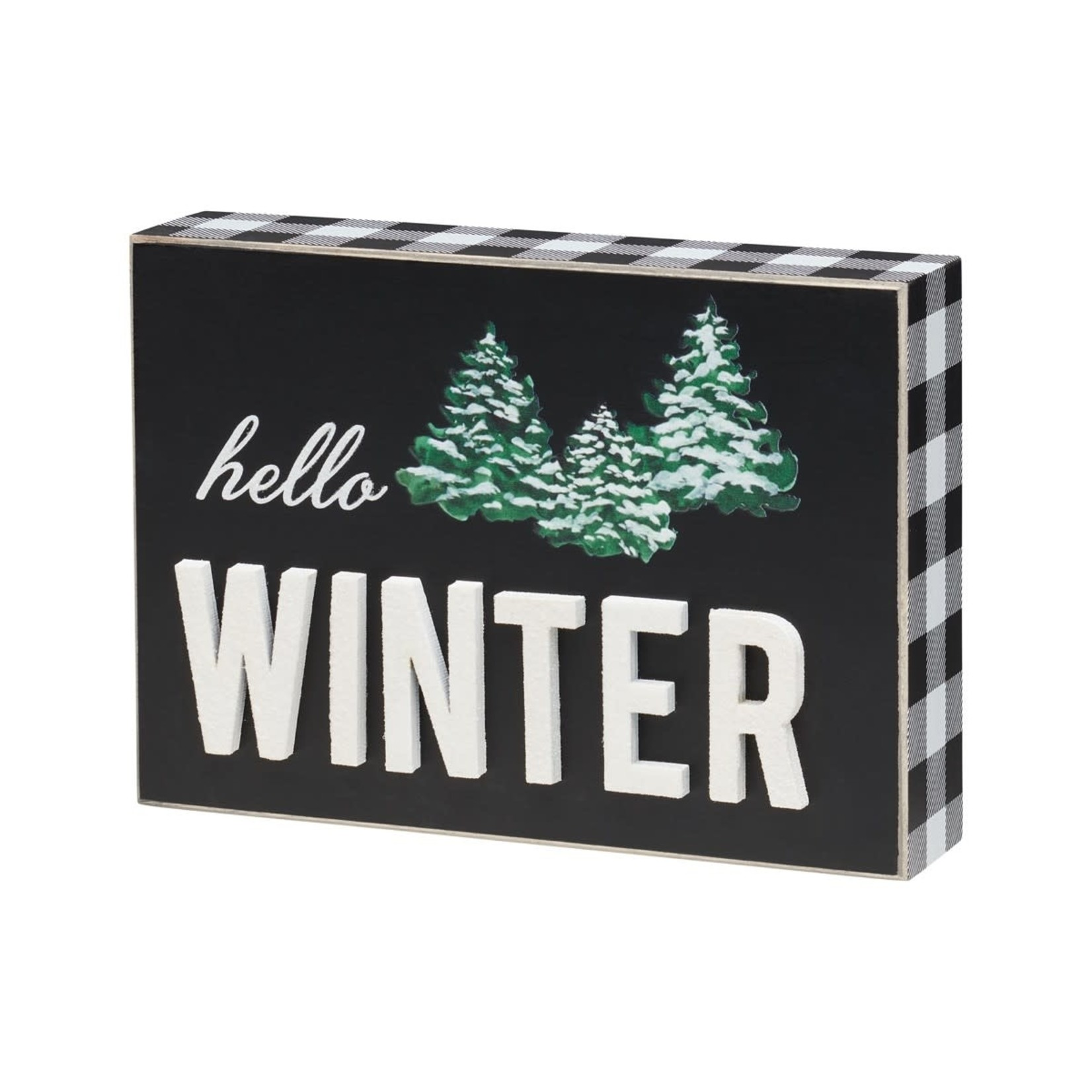 Collins Painting Winter 3D Glitter Box Sign