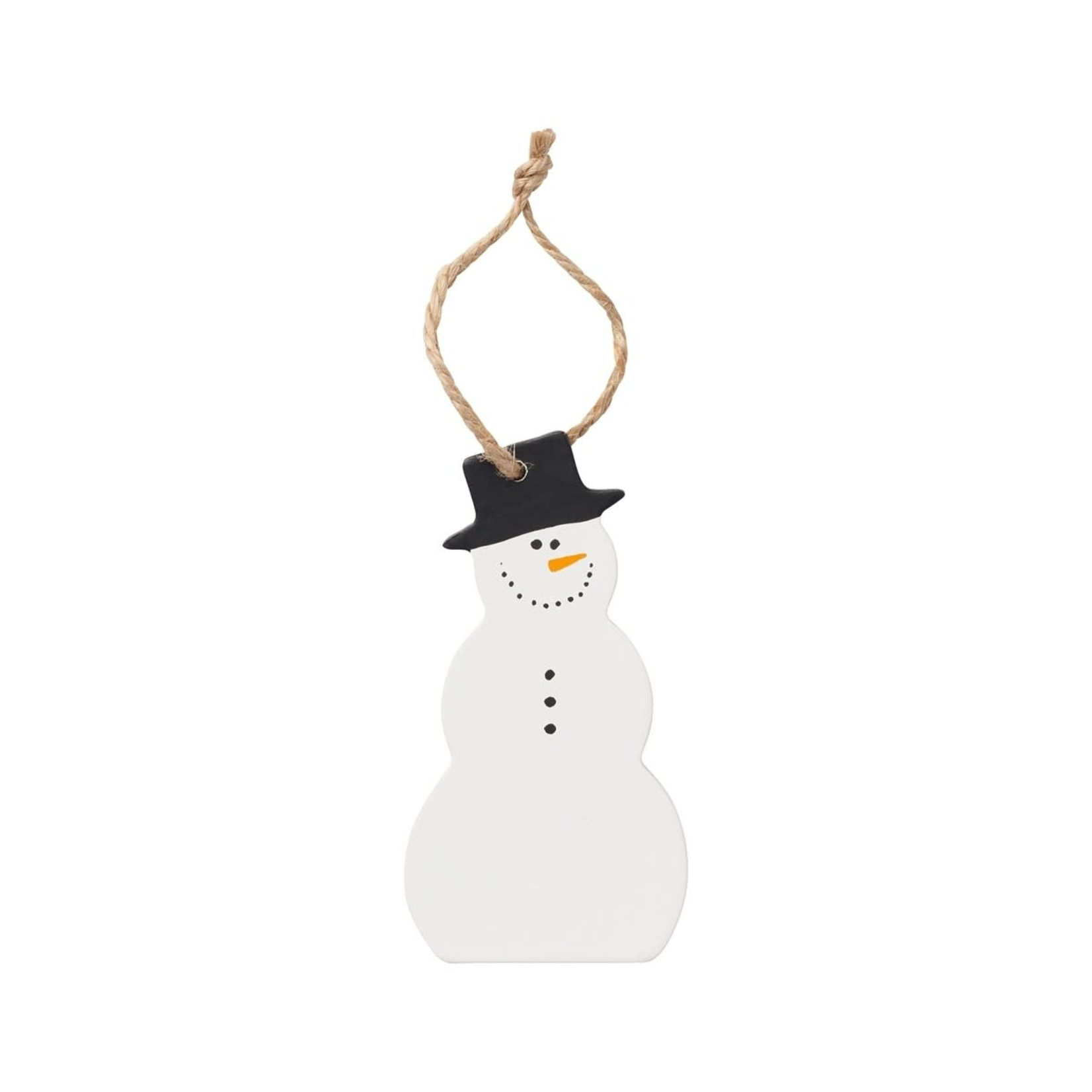 Collins Painting Snowman Wood Ornie