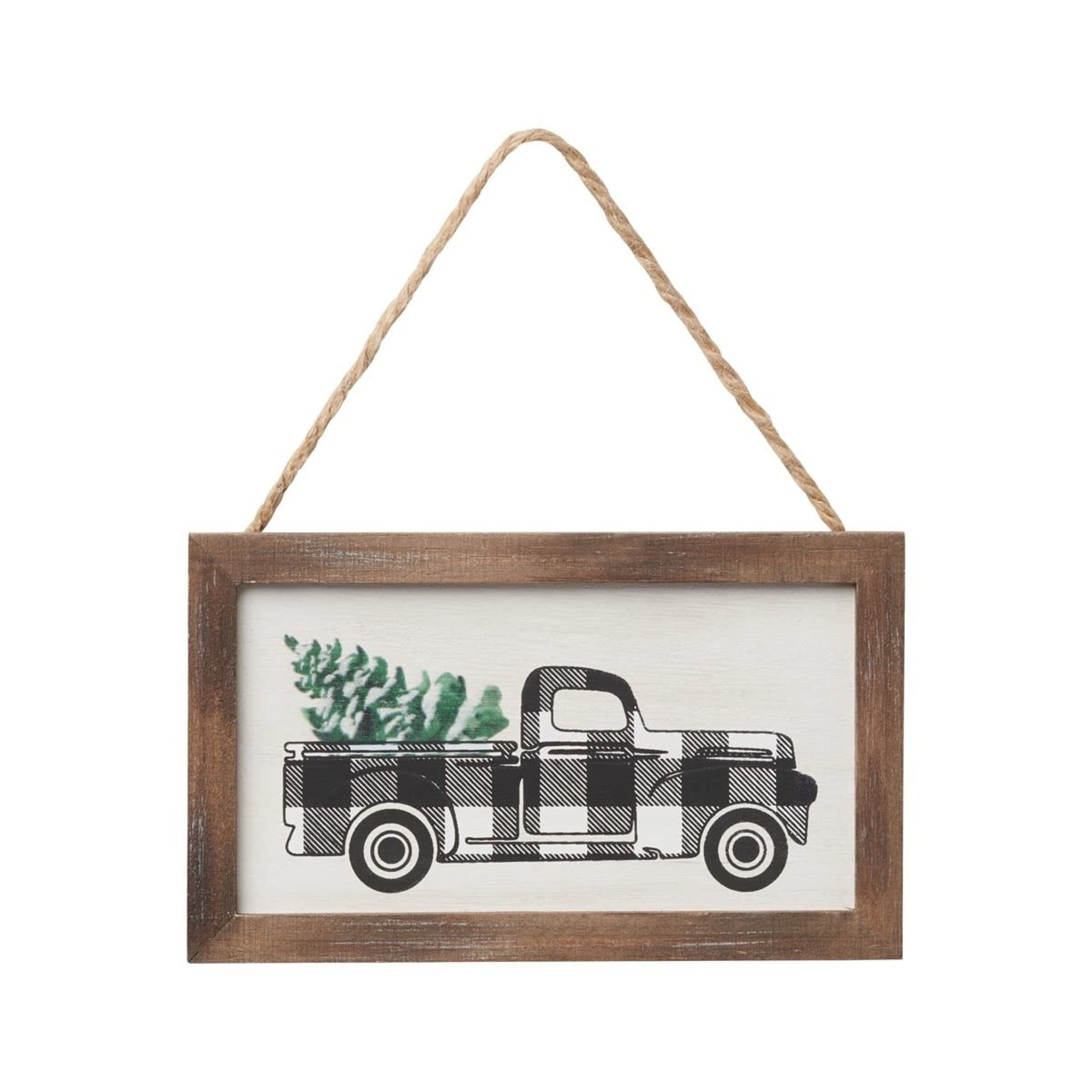 Collins Painting BW Truck Framed Ornie