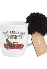 Holly Plaid Mug