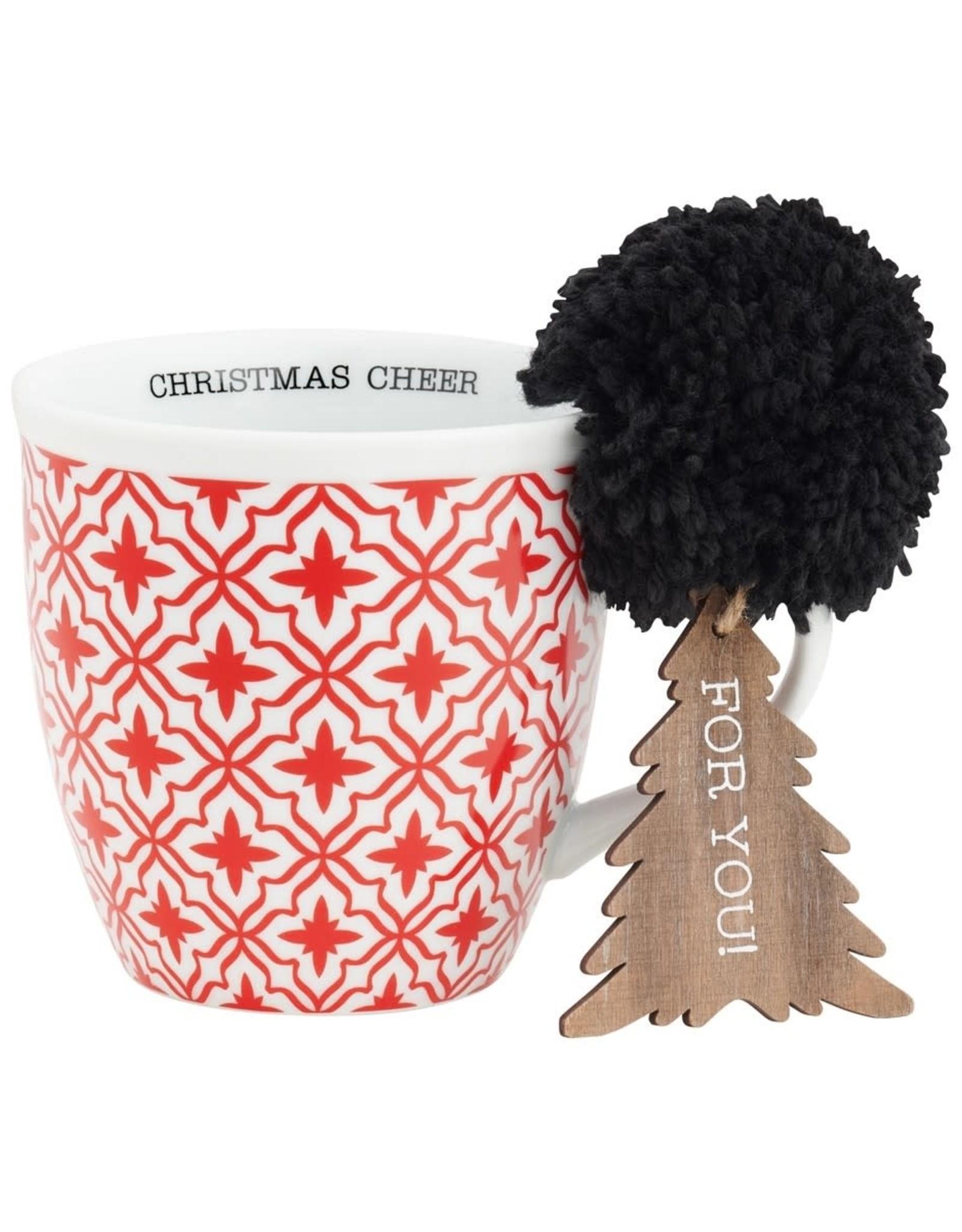 Red Pattern Mug Set w/ Ornie