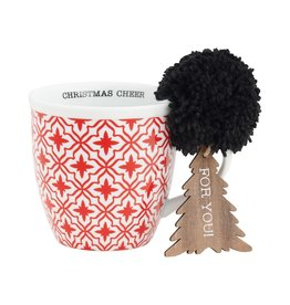 Red Pattern Mug Set w/ Ornie