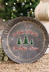 Farm Fresh Trees Metal Tray