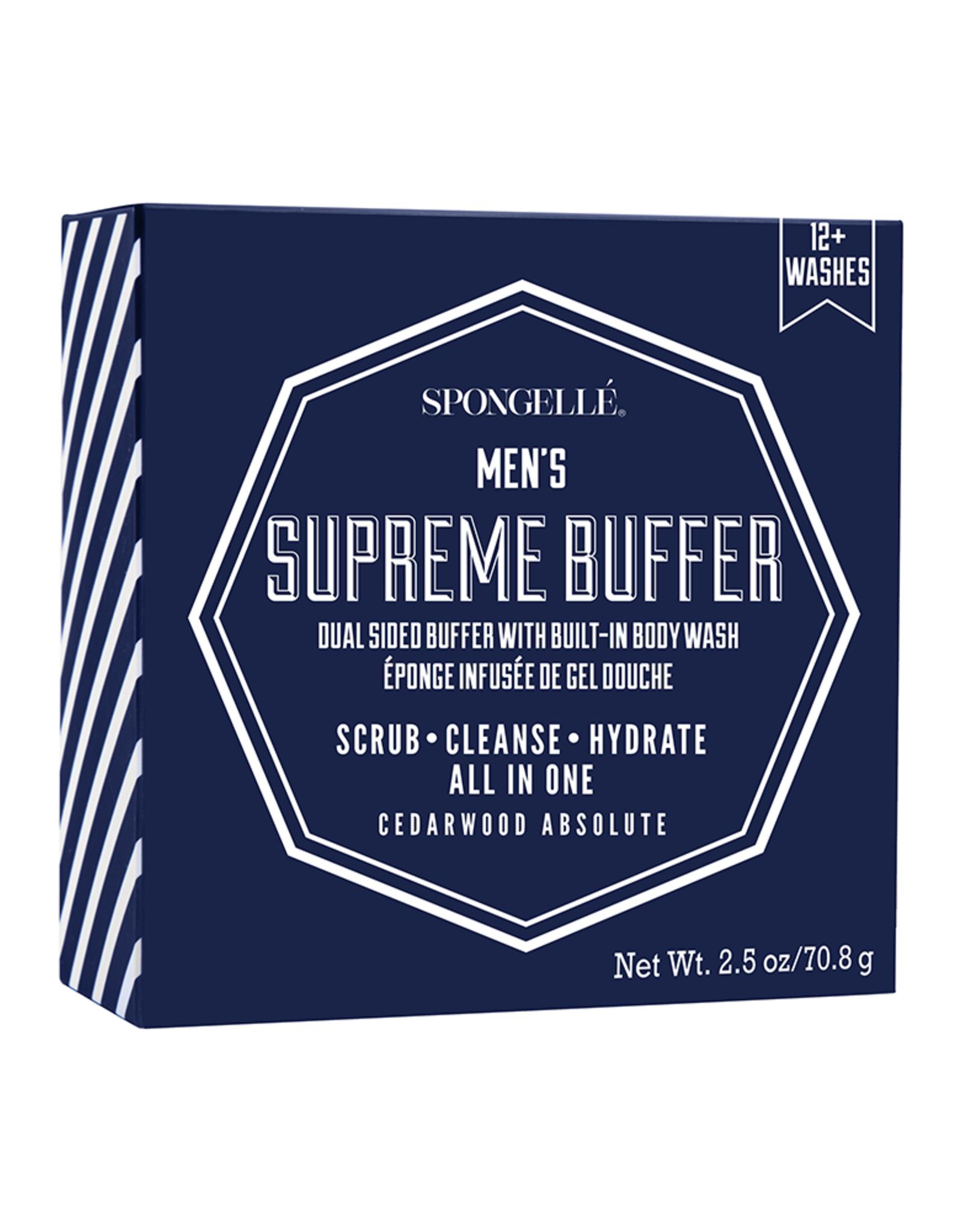 Spongelle Men's Supreme Buffer   Cedar Absolute