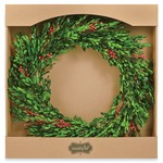 Mud Pie Preserved Flax Boxwood Wreath