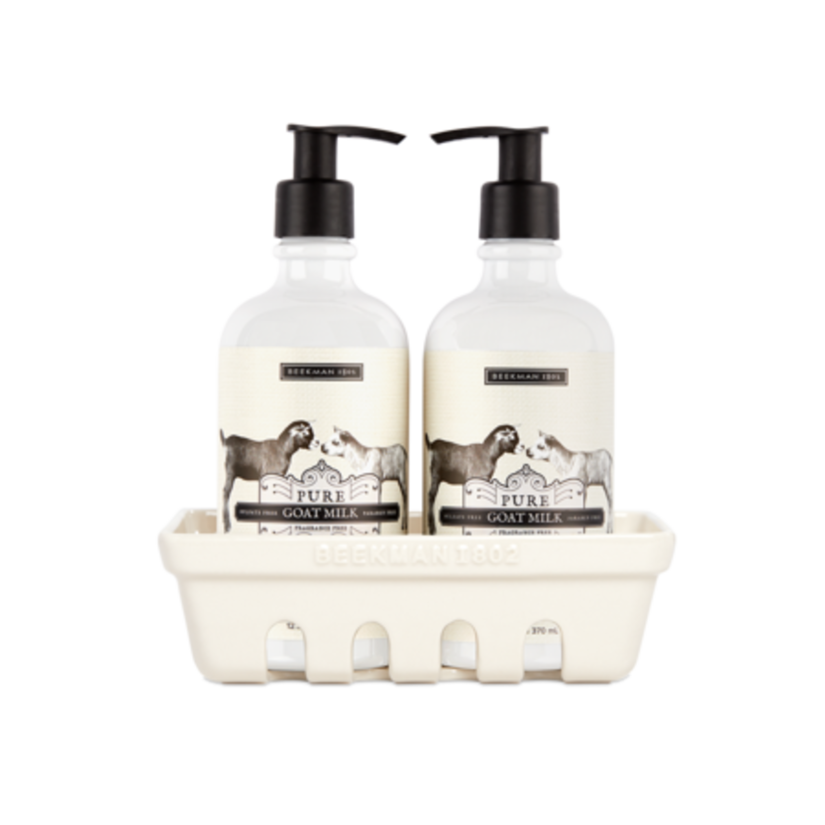 BEEKMAN 1802 Pure Goat Milk Hand Care Caddy