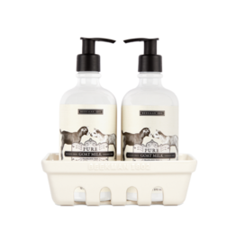 BEEKMAN 1802 Pure Goat Milk Hand Care Caddy