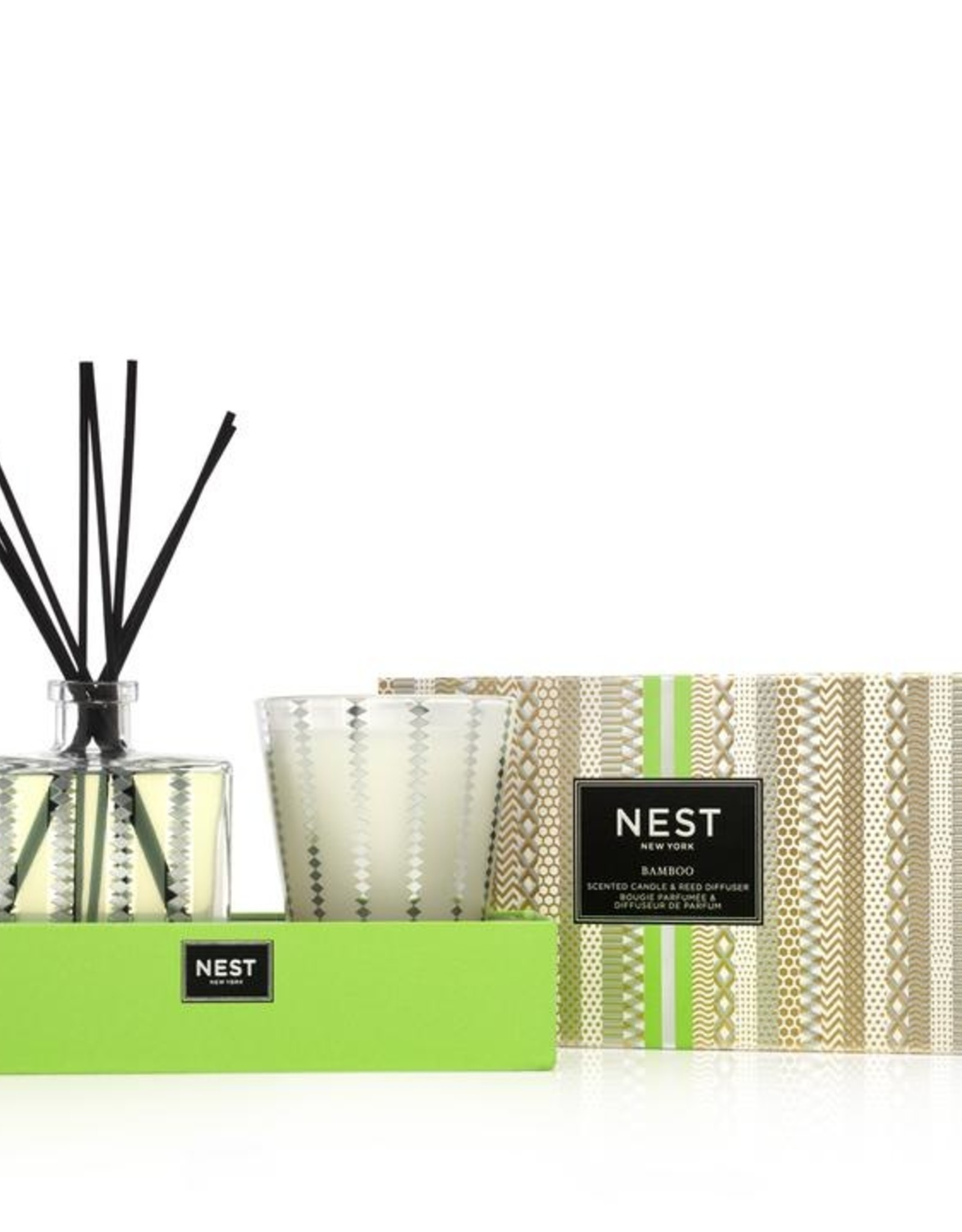 NEST NEW YORK Bamboo Candle and Diffuser Set