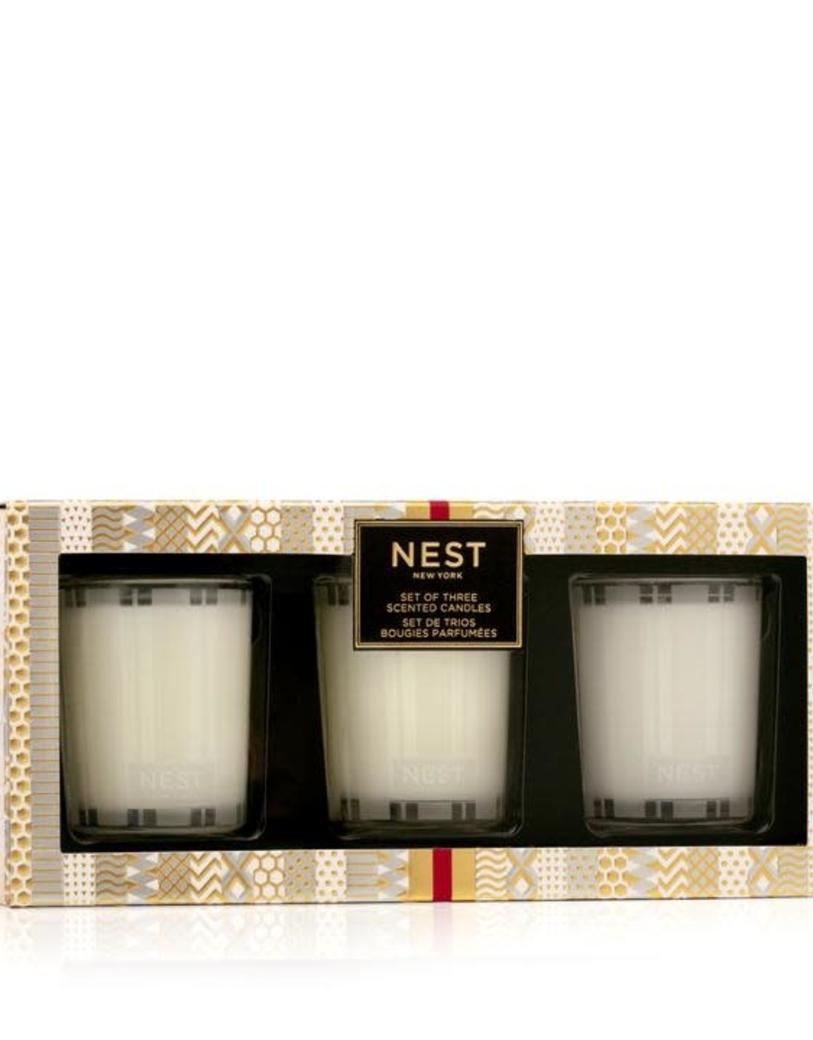 NEST NEW YORK Festive Votive Candle Trio Set