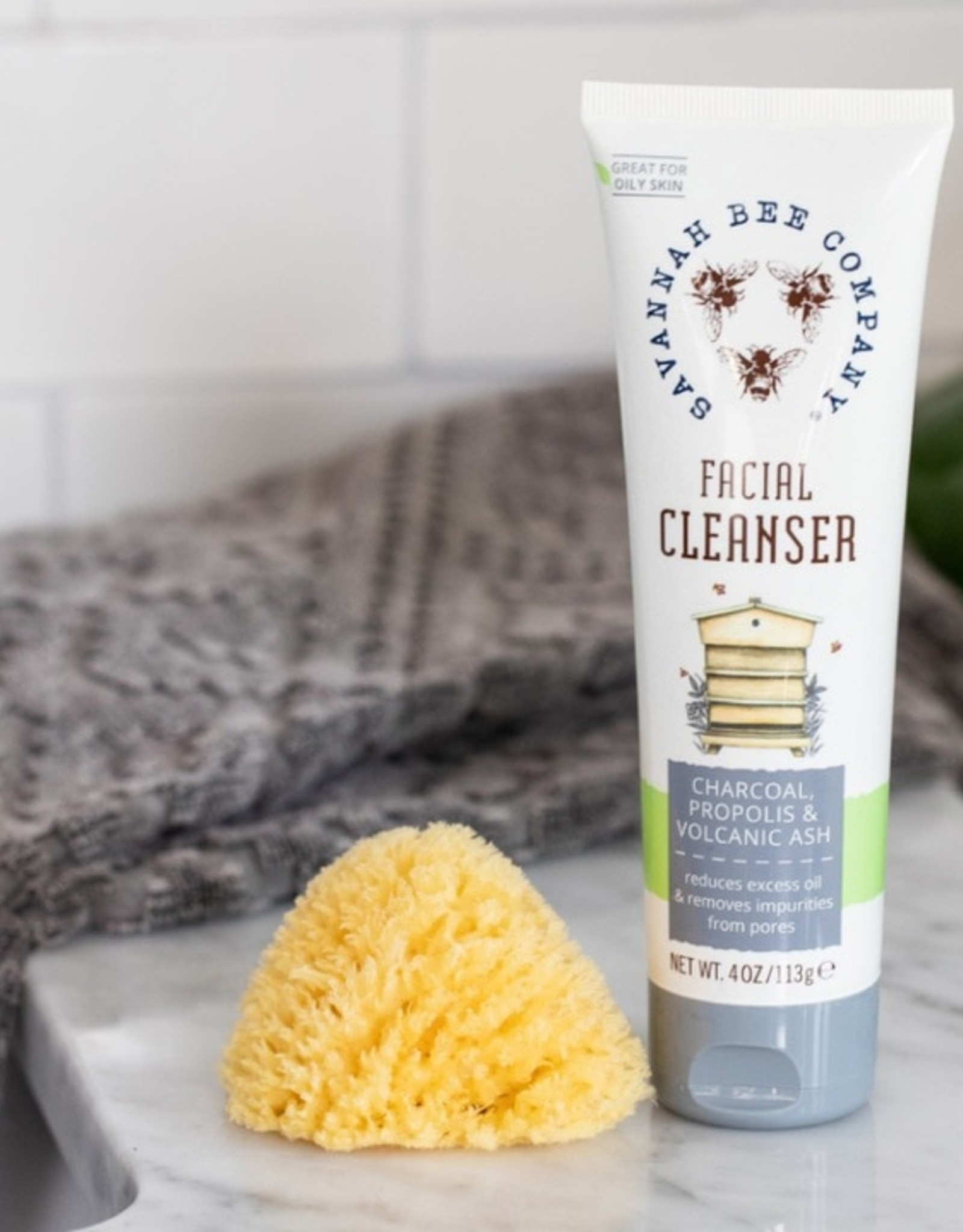 Savannah Bee Company Charcoal Facial Cleanser