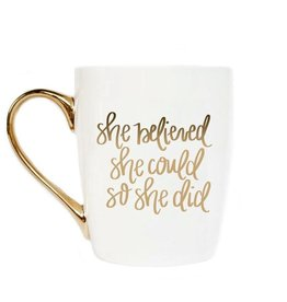 Sweet Water Decor She Believed Gold Mug