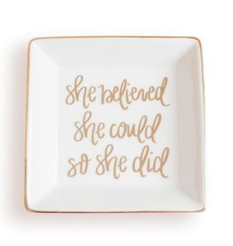 Sweet Water Decor She Believed Jewelry Dish