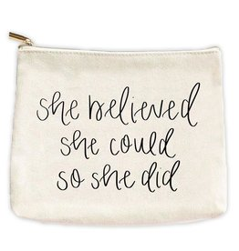 Sweet Water Decor She Believed Makeup Bag