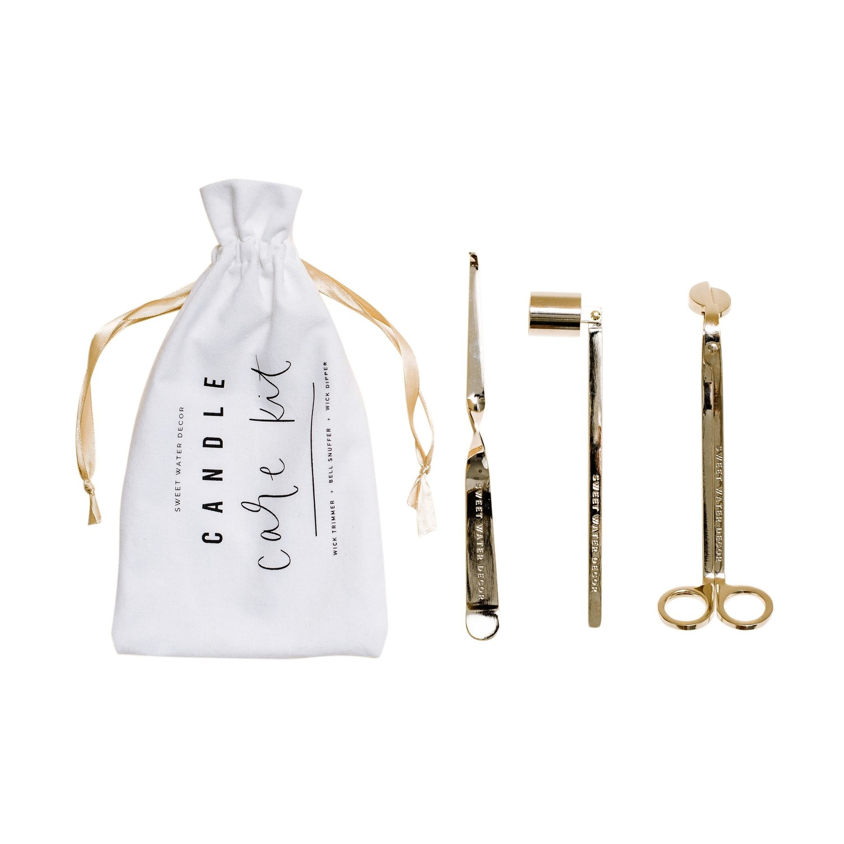 Sweet Water Decor Gold Candle Care Kit