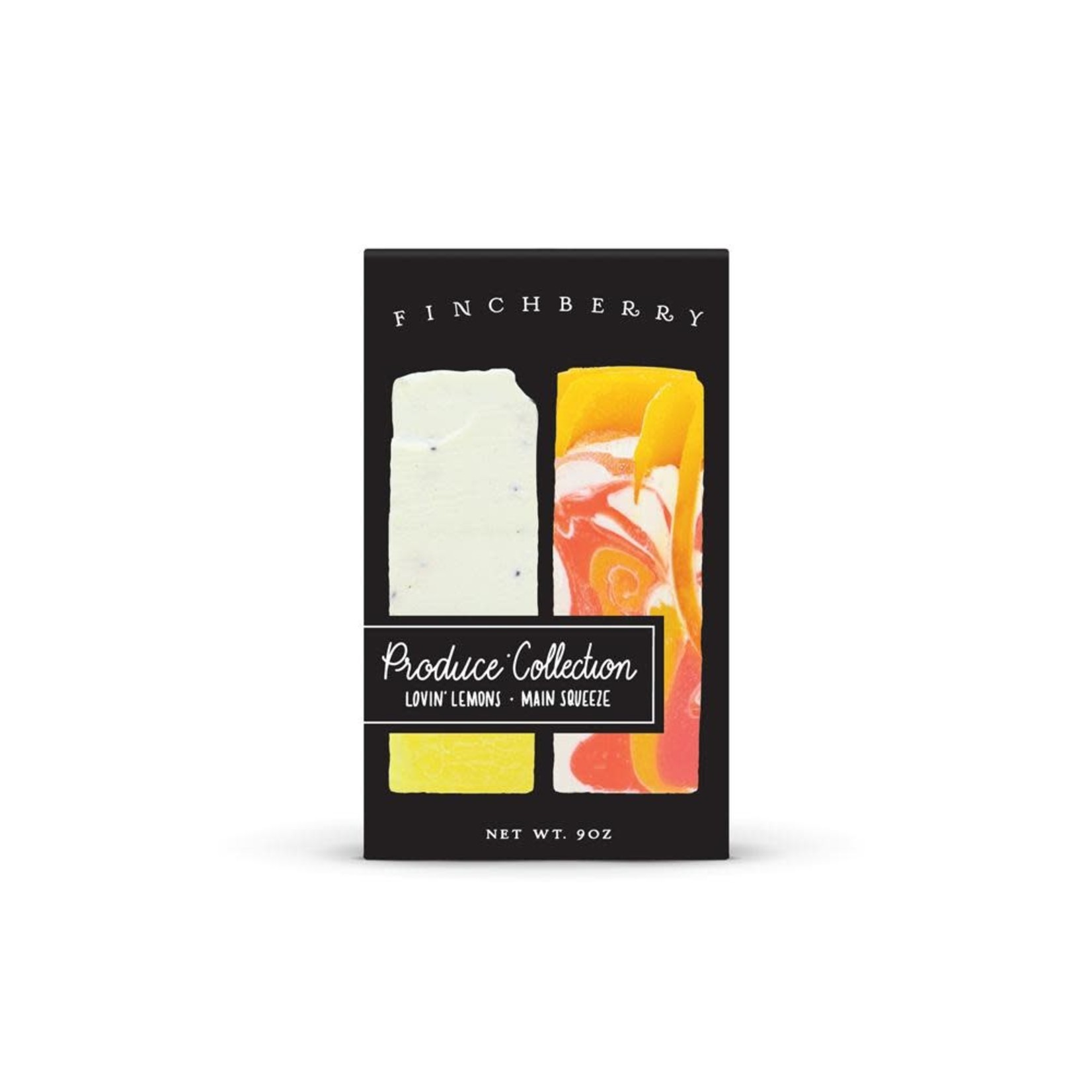 FinchBerry Soapery 2-Bar Gift Box - Produce Collection - Lovin Lemons + Main Squeeze