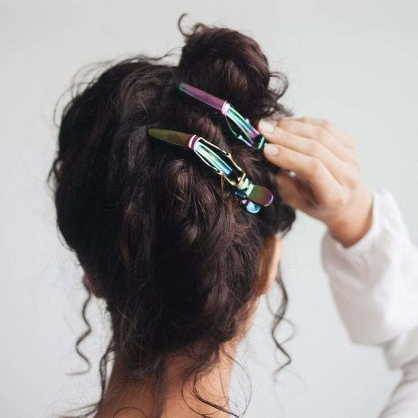 /KIT•SCH/ Blow Dry Clips 3pc - Iridescent