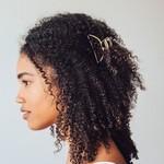 /KIT•SCH/ Open Shape Claw Clip - Gold