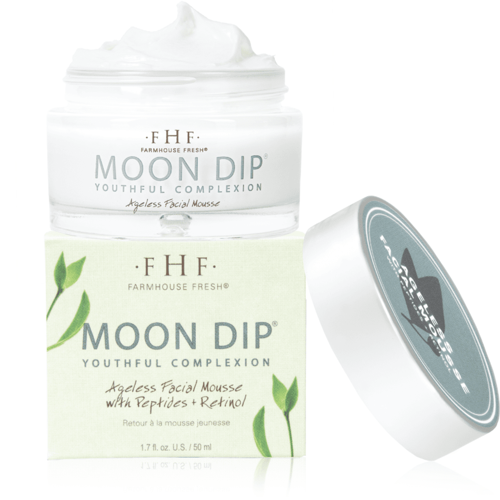 Farmhouse Fresh Moon Dip® Youthful Complexion Ageless Facial Mousse with Peptides + Retinol