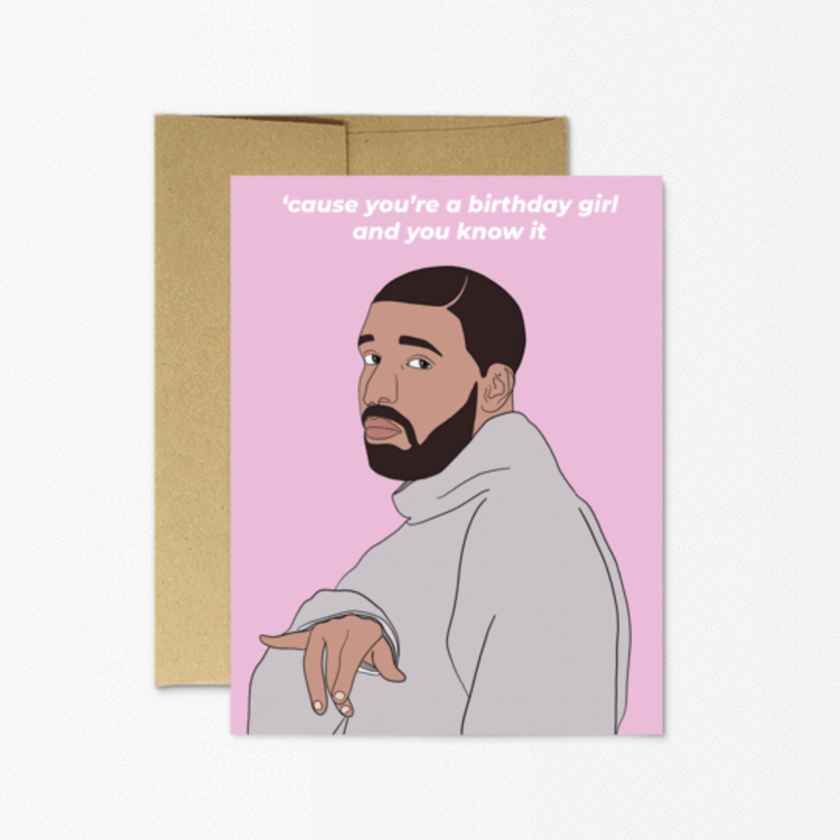 Party Mountain Paper Co. Drake Birthday Girl Card