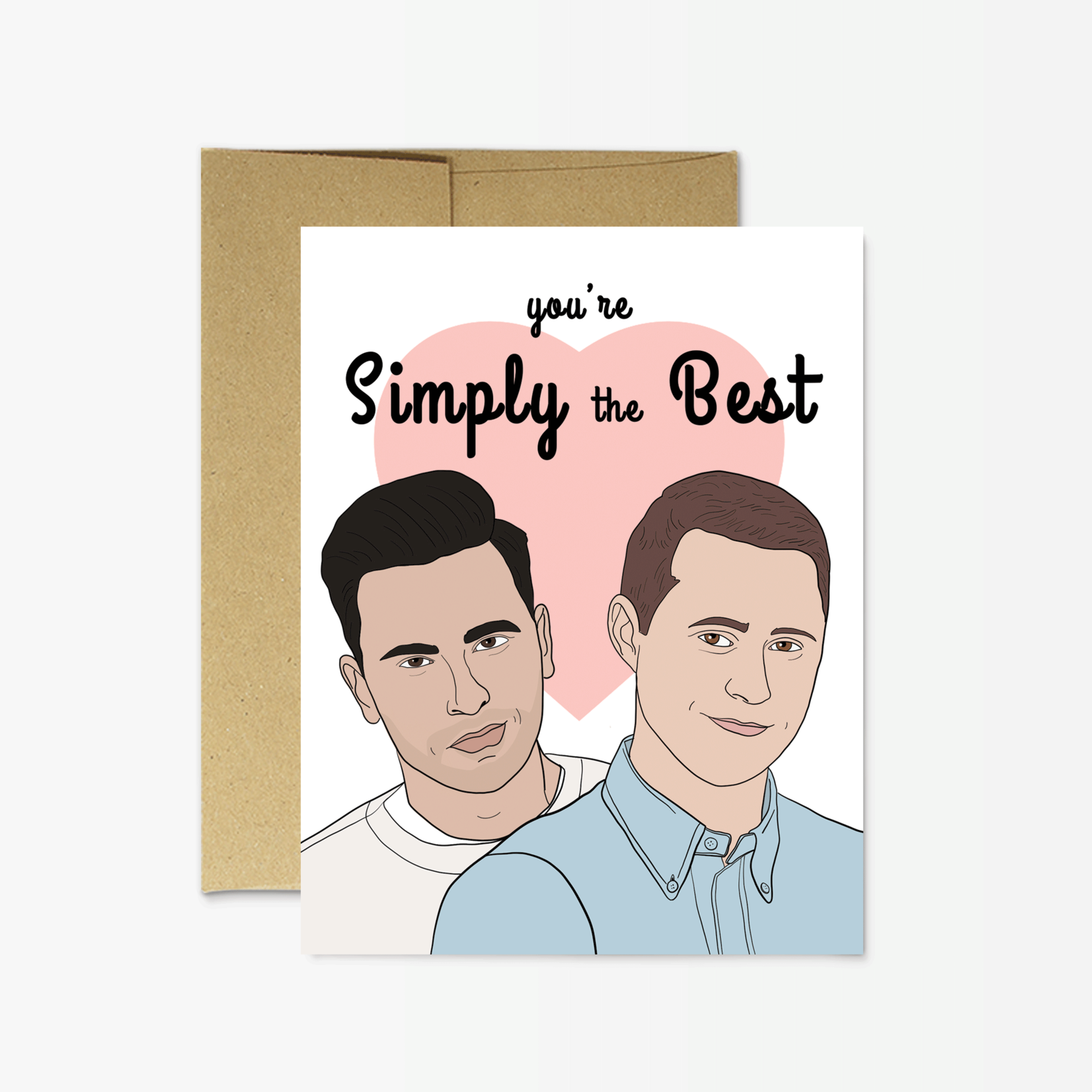 """Party Mountain Paper Co. Schitt's Creek """"Simply the Best"""" Card"""