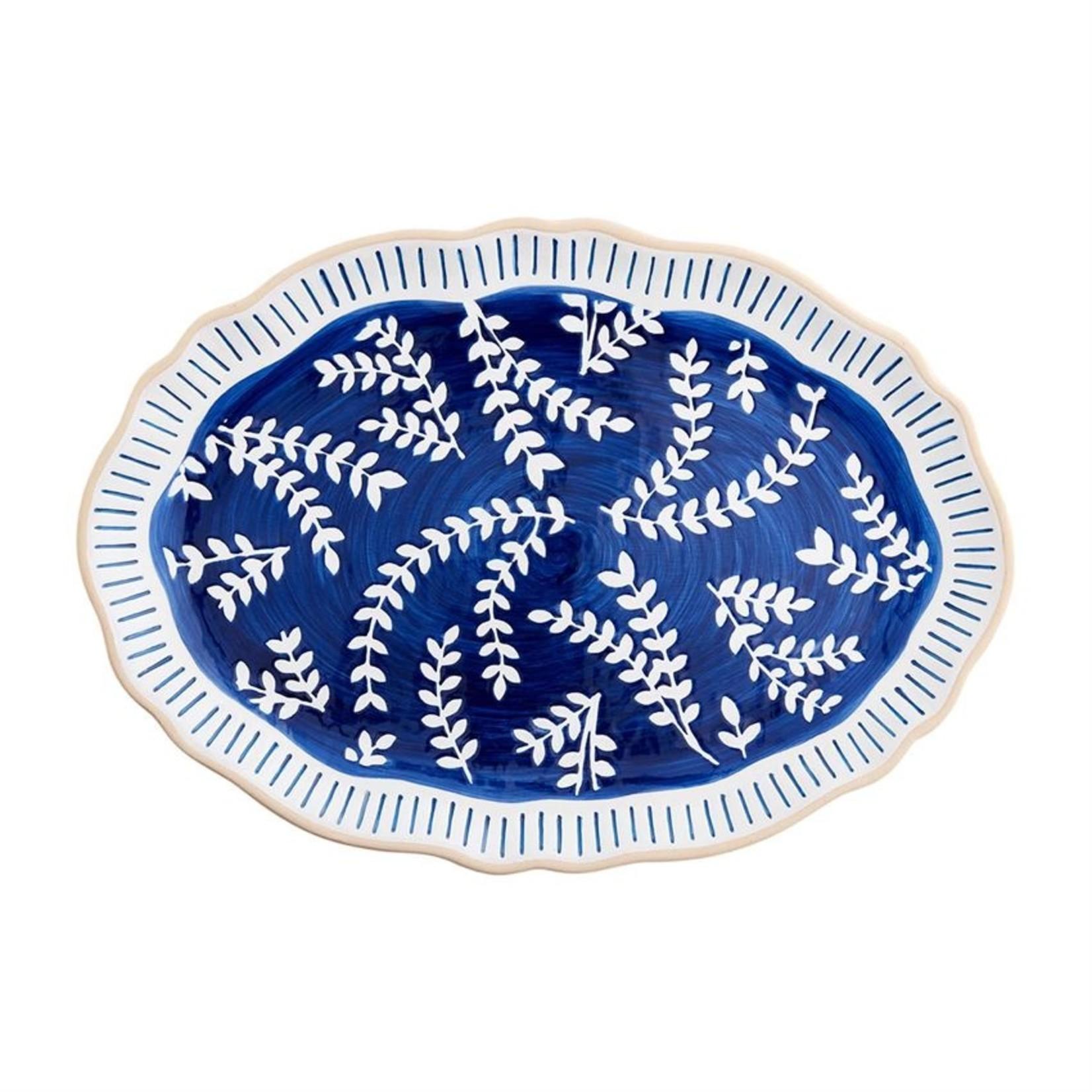 Mud Pie Indigo Vine Platter