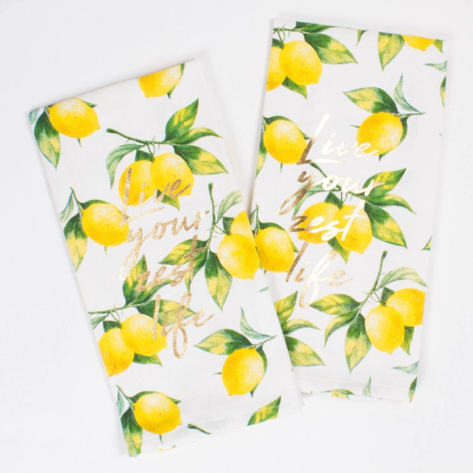 8 Oak Lane Lemon Kitchen Towel Set - 2PC