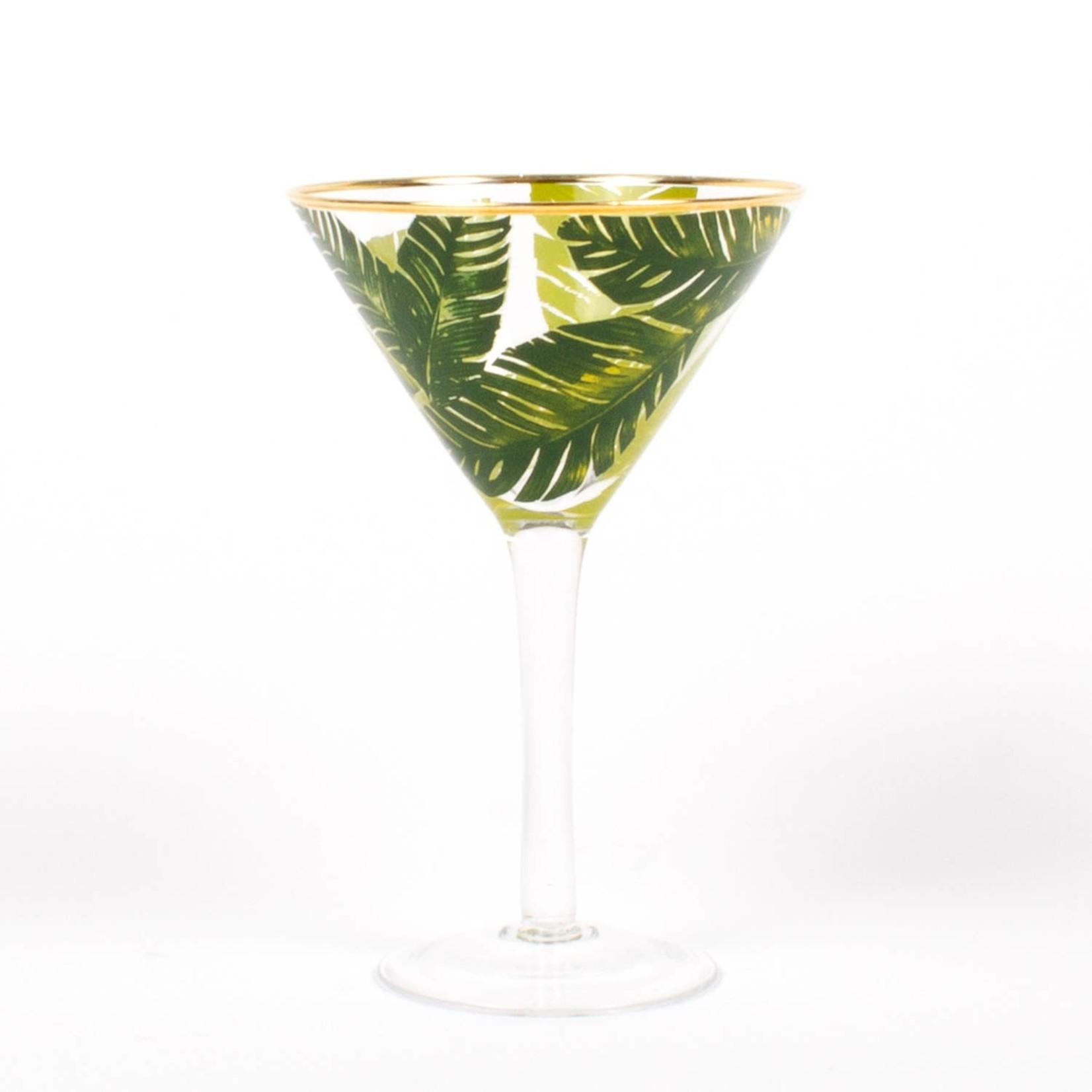 8 Oak Lane 8oz Martini Glass- Botanical Leaf