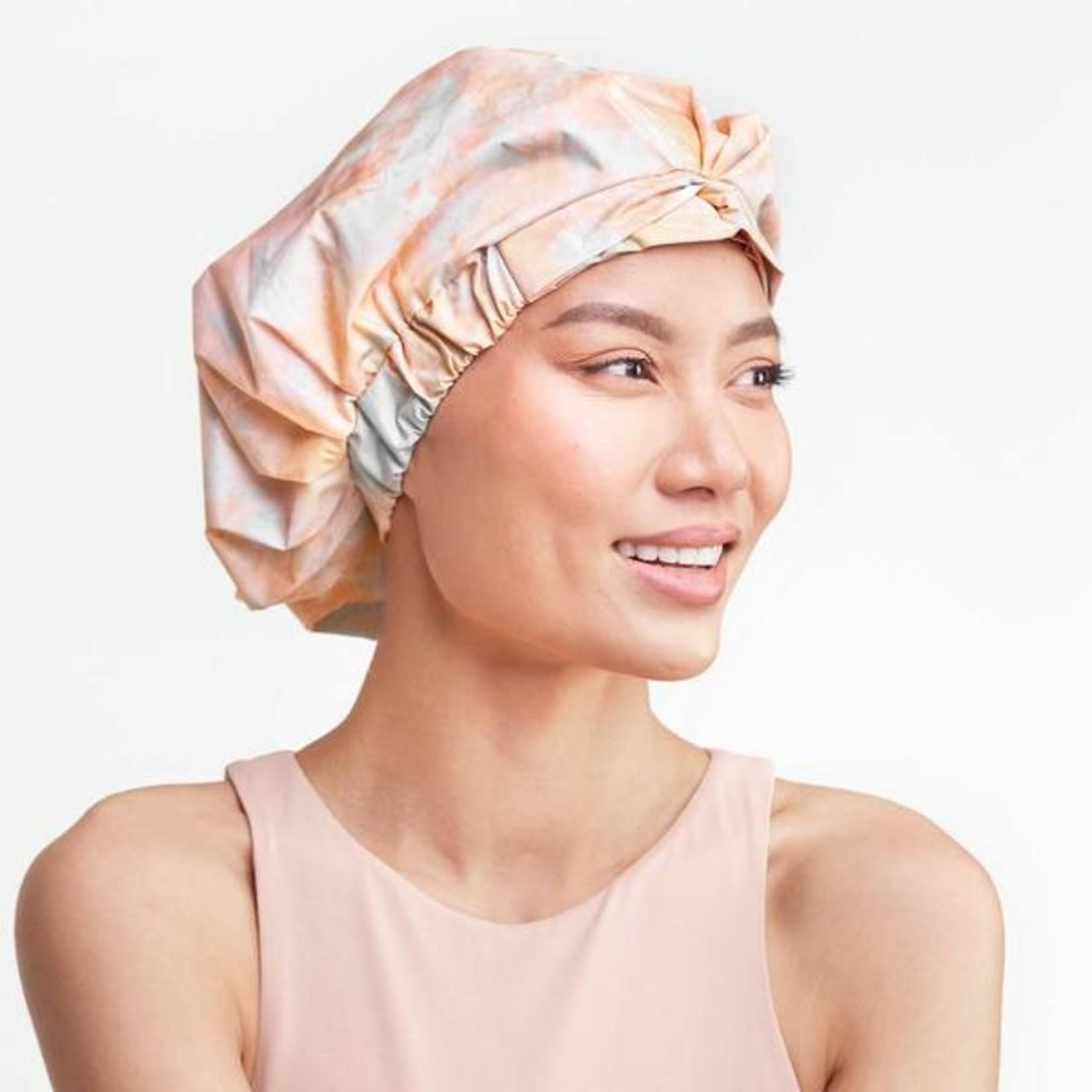 /KIT•SCH/ Luxe Shower Cap - Sunset Tie Dye
