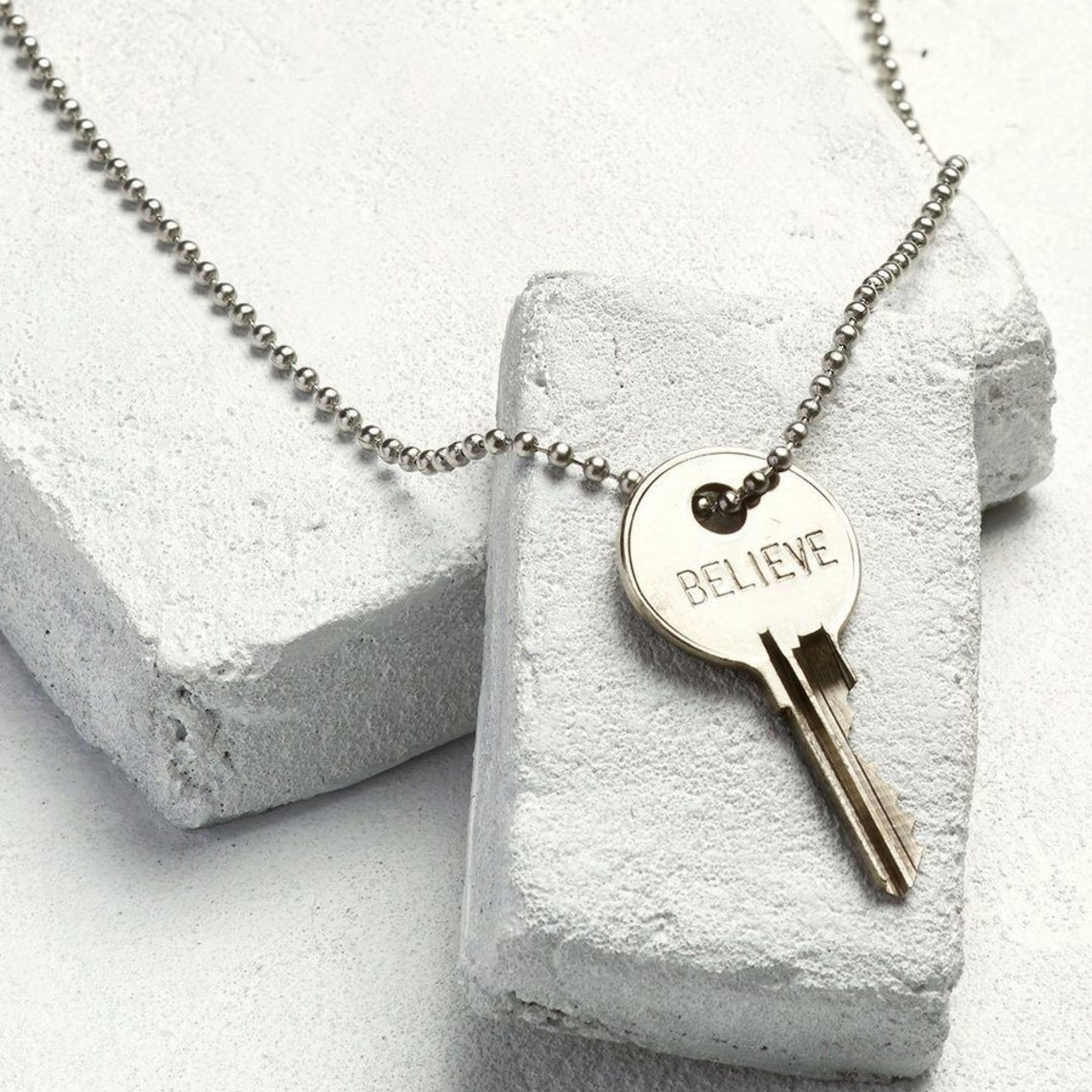 The Giving Keys Classic Ball Chain Key Necklace