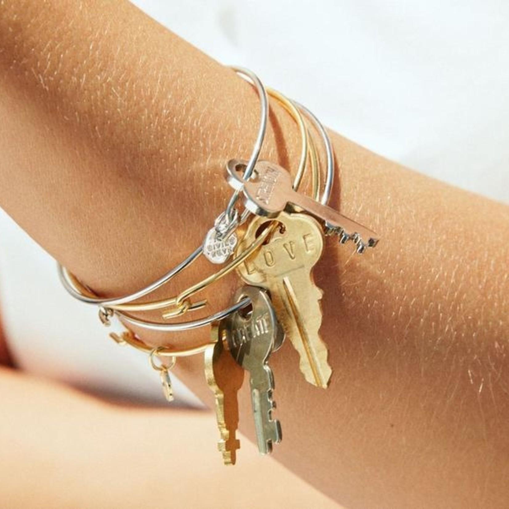 The Giving Keys Dainty Key Bangle Bracelet